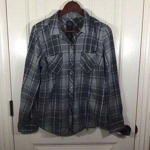 Harley Davidson Gray Flannel Shirt.